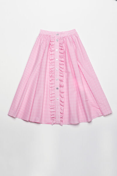 ANNAMARIA PALETTI - GENNIFER - Long skirt with front buttoning and rouges - 002