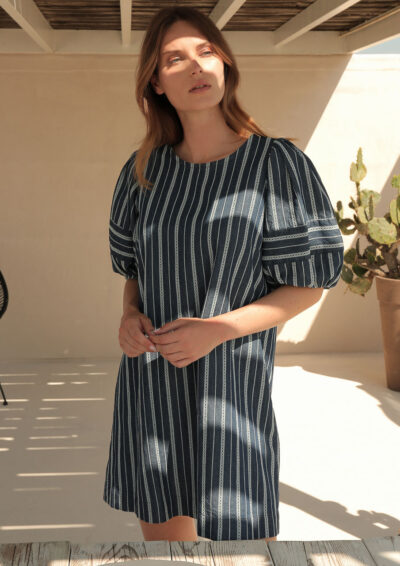 ANNAMARIA PALETTI - GENTRY - Dress with balloon sleeves - 001