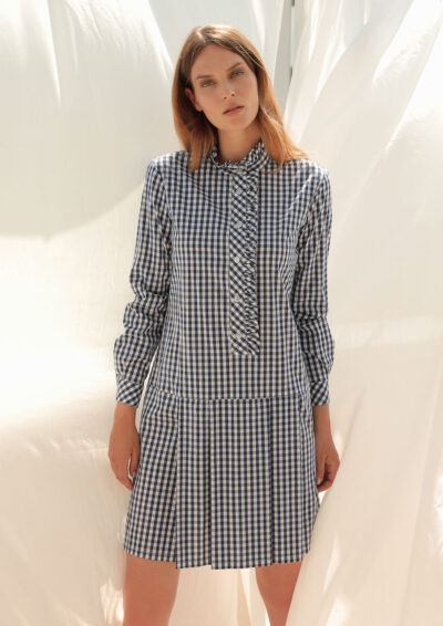 ANNAMARIA PALETTI - GERMANA - Dress with flounce and long sleeves