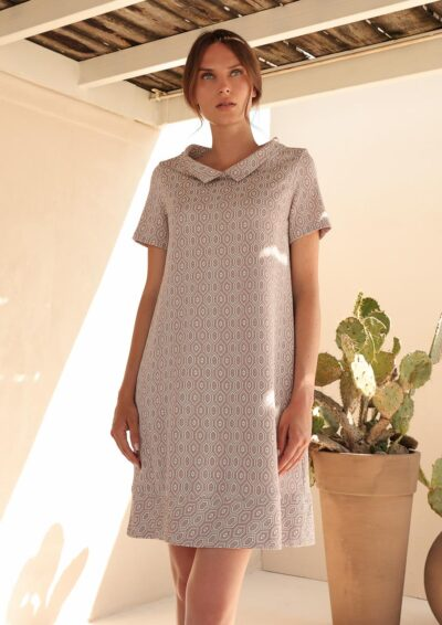 ANNAMARIA PALETTI - GUISA - Dress with short sleeves and round neck - 001