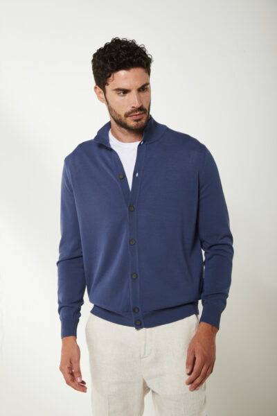 KANGRA MAN - S2K40115609 - Jacket With Buttons + Knitted Patches - 001