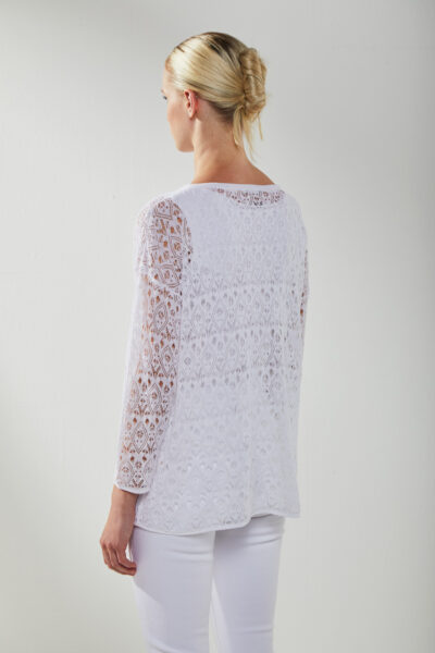KANGRA MAN - S2A45151360 - Lace-Effect Box Boat -Neck And Tank Top - 002