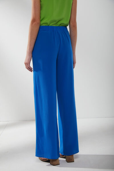 KANGRA MAN - S2A494115 - Wide Silk Trousers With Pockets - 002