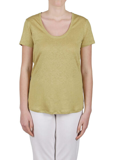 PUROTATTO - 1300 - Scoop neck t-shirt with short sleeves - 001