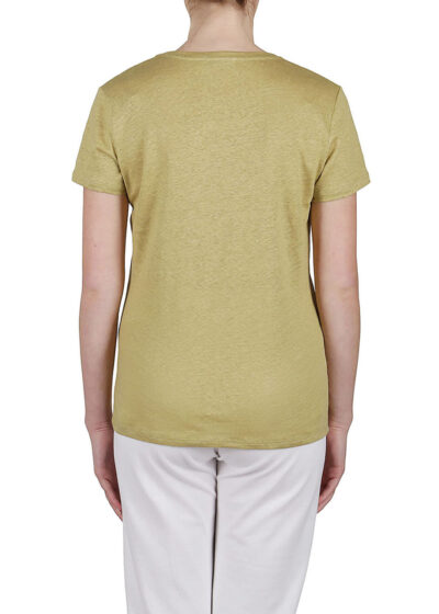 PUROTATTO - 1300 - Scoop neck t-shirt with short sleeves - 003