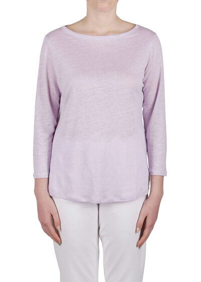 PUROTATTO - 1301 - Boat neck t-shirt with 3/4 sleeves - 001