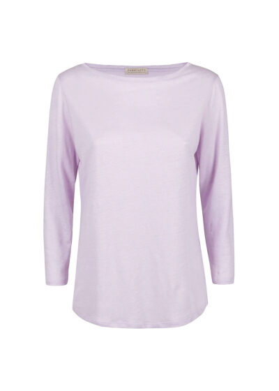 PUROTATTO - 1301 - Boat neck t-shirt with 3/4 sleeves - 002