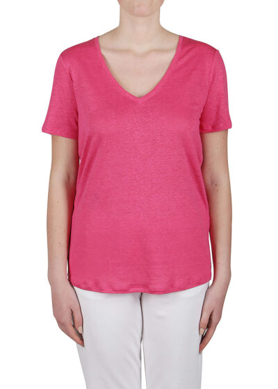 PUROTATTO - 1302 - V-neck t-shirt with short sleeves - 001