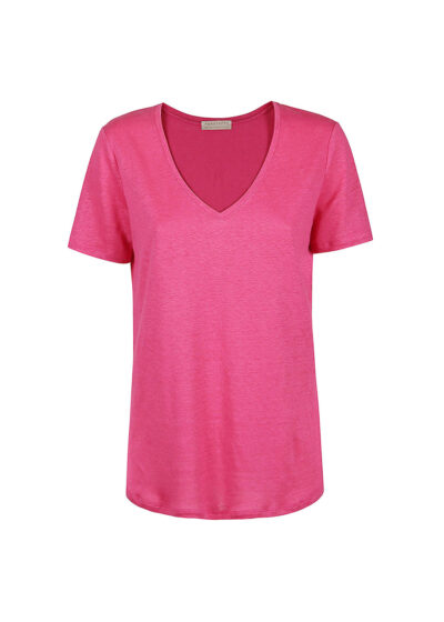 PUROTATTO - 1302 - V-neck t-shirt with short sleeves - 002