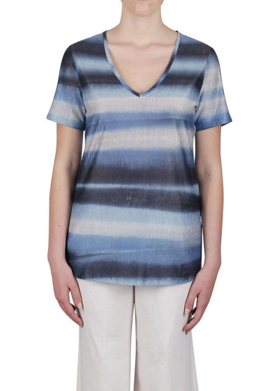 PUROTATTO - 1326 - V-neck t-shirt with short sleeves - 001