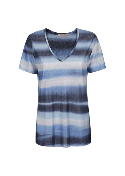 PUROTATTO - 1326 - V-neck t-shirt with short sleeves - 002