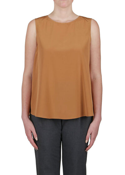 PUROTATTO - 1550 - Round neck blouse with 3/4 sleeves