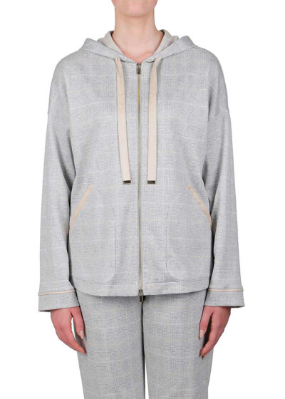 PUROTATTO - 1710 - Hooded sweatshirt with long sleeves and patch pockets - 001