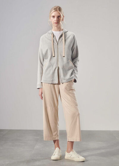 PUROTATTO - 1710 - Hooded sweatshirt with long sleeves and patch pockets - 004