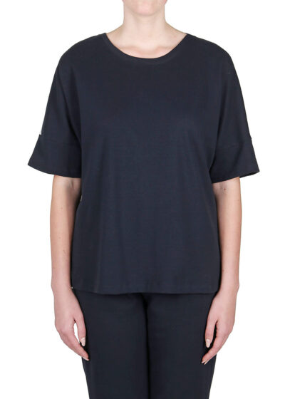 PUROTATTO - 1716 - Sweatshirt with back in printed viscose