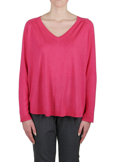 PUROTATTO - 2002 - V-sneck sweater with raglan long sleeves - 001