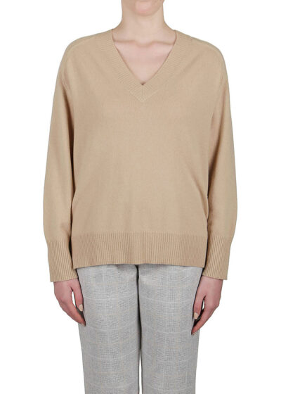 PUROTATTO - 2103 - V-neck sweater with long sleeves