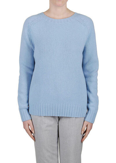 PUROTATTO - 2107 - Round neck chunky sweater with long sleeves
