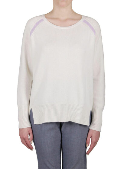 PUROTATTO - 2116 - Round neck sweater with raglan long sleeves