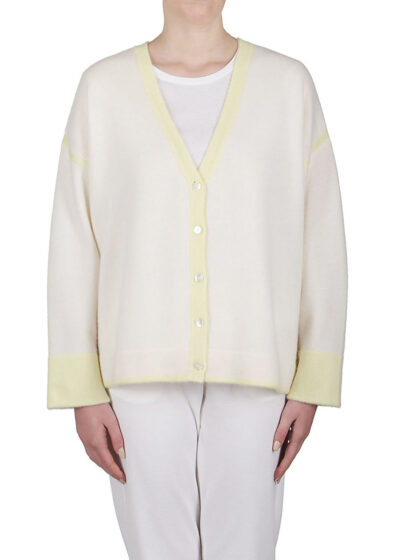PUROTATTO - 2120 - Cardigan with dropped shoulders and long sleeves
