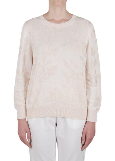 PUROTATTO - 2302 - Boat neck sweater with long sleeves - 001