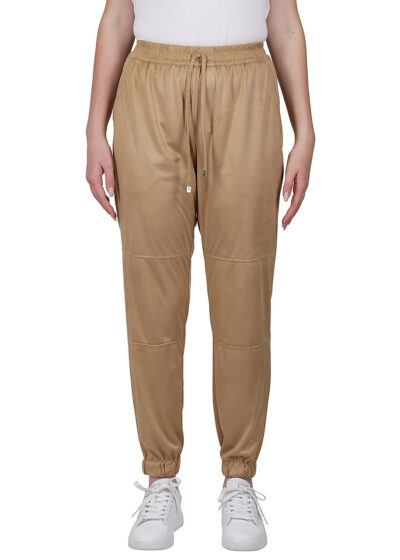 PUROTATTO - 3010 - Cigarette trousers with elasticated waistband and cuffs - 001