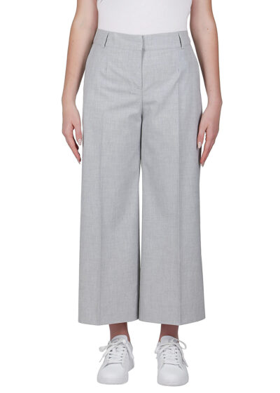 PUROTATTO - 3020 - Wide leg cropped trousers with pockets - 001