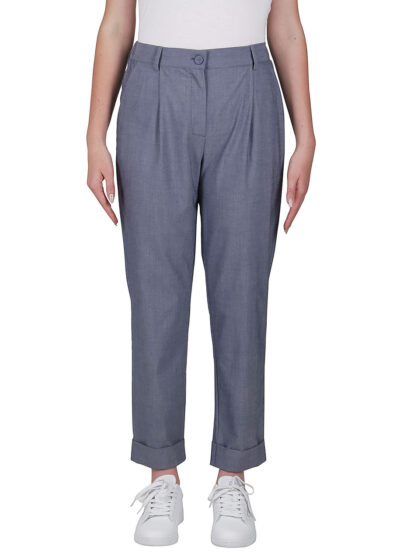 PUROTATTO - 3021 - Cigarette trousers with pockets - 001