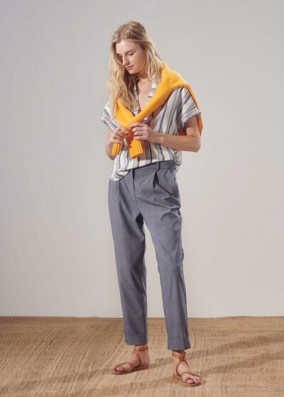 PUROTATTO - 3021 - Cigarette trousers with pockets - 004