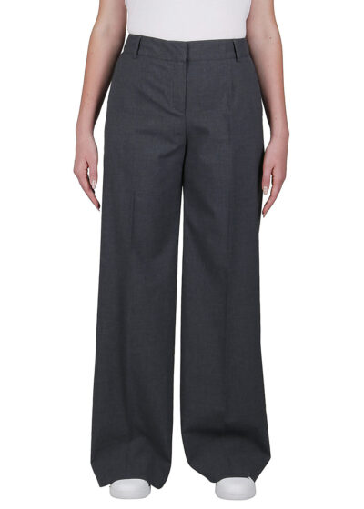 PUROTATTO - 3022 - Wide leg cropped trousers with pockets - 001