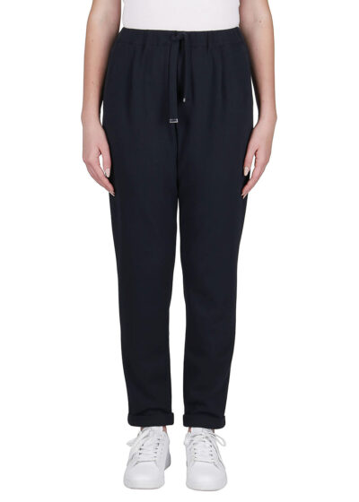 PUROTATTO - 3051 - Trousers with elasticated waistbelt and pockets - 001