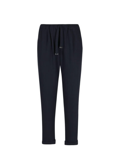 PUROTATTO - 3051 - Trousers with elasticated waistbelt and pockets - 002