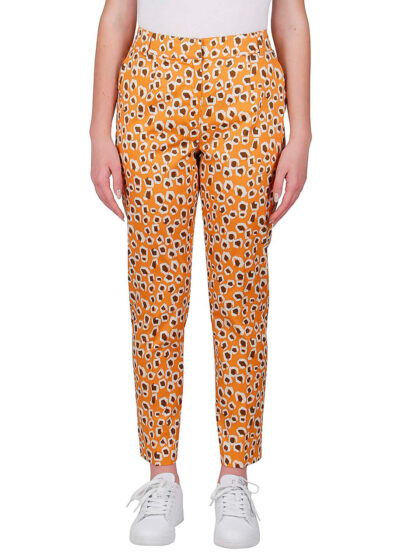 PUROTATTO - 3072 - Cigarette trousers with pockets - 001