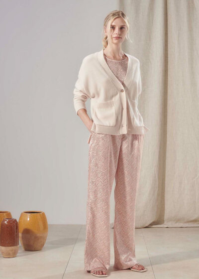 PUROTATTO - 3075 - Wide leg trousers with pockets - 004