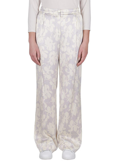 PUROTATTO - 3076 - Wide leg trousers with pockets - 001