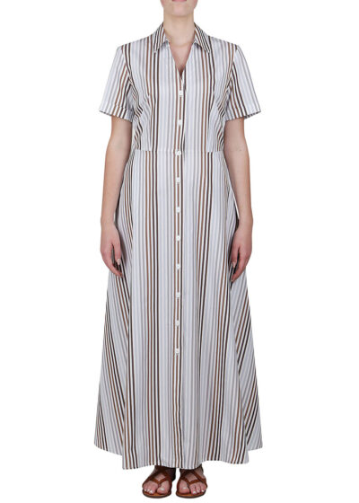 PUROTATTO - 4017 - Chemisier dress with short sleeves - 001