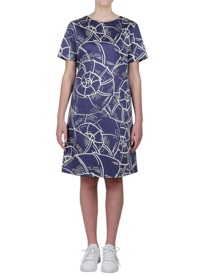 PUROTATTO - 4026 - A-line dress with short sleeves - 001