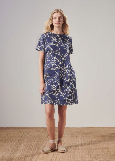 PUROTATTO - 4026 - A-line dress with short sleeves - 004
