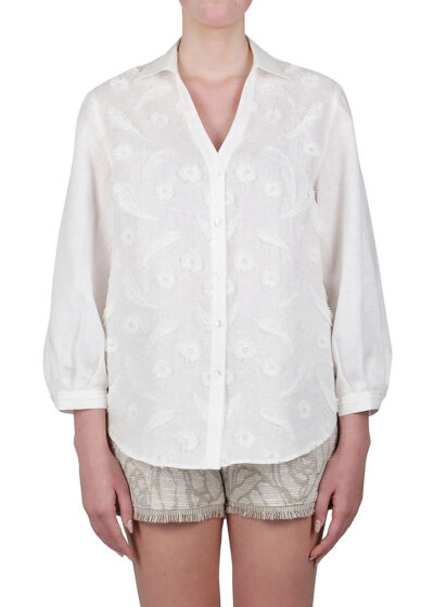 PUROTATTO - 5026 - Shirt with embroidery