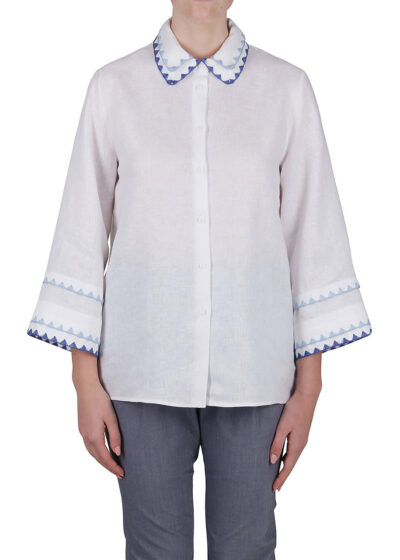PUROTATTO - 5028 - Shirt with embroidery