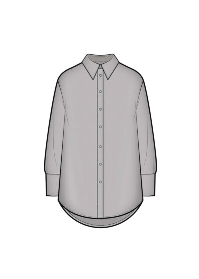 PUROTATTO - 5031 - Over-sized shirt