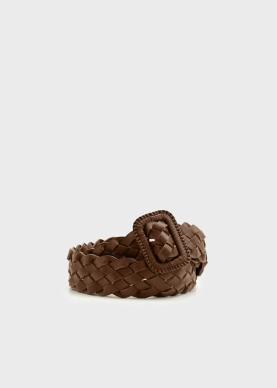ROSSO 35 - CINT903 - Weaved Leather Belt - 002