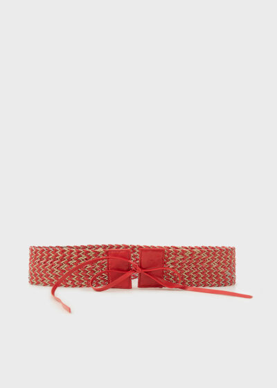 ROSSO 35 - CINT904 - Leather and Canapa Belt - 002