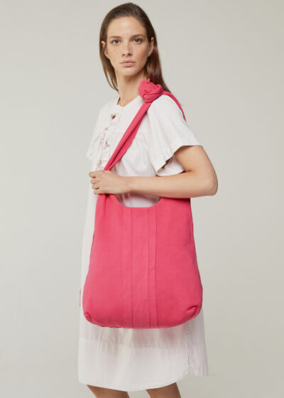 ROSSO 35 - MAMANUCA - Piece-Dyed Knotted Shopping Bag - 001