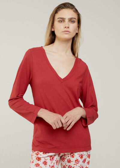 ROSSO 35 - N1349TS - Garment-Dyed Cotton-Crepe T-Shirt - 001