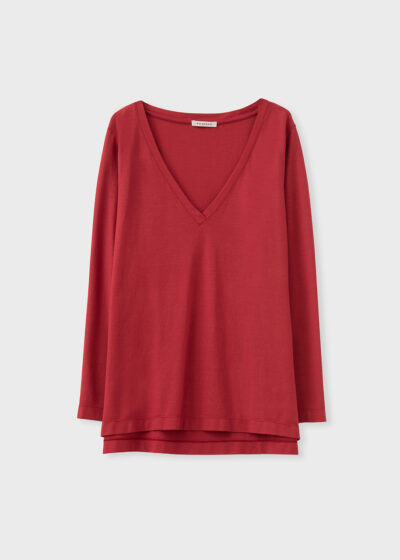 ROSSO 35 - N1349TS - Garment-Dyed Cotton-Crepe T-Shirt - 002