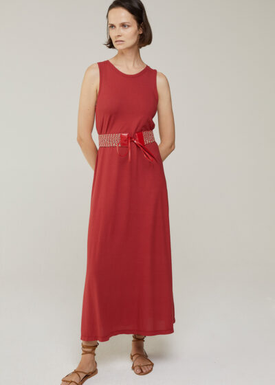 ROSSO 35 - N1351VS - Garment-Dyed Cotton-Crepe Dress - 001