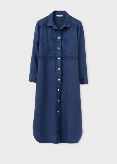 ROSSO 35 - N1376VR - Garment-Dyed Embroidered Shirt-Dress - 002