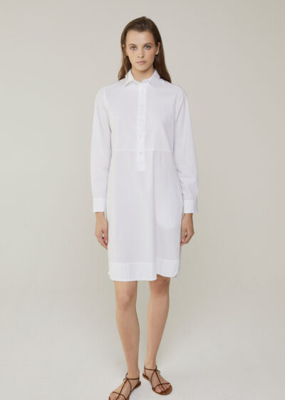 ROSSO 35 - N1384VR - Garment-Dyed Embroidered Shirt-Dress - 001