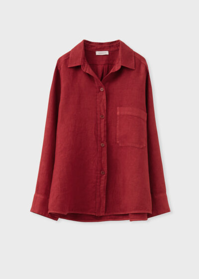 ROSSO 35 - N1390A - Garment-Dyed Masculine Shirt-Jacket - 002